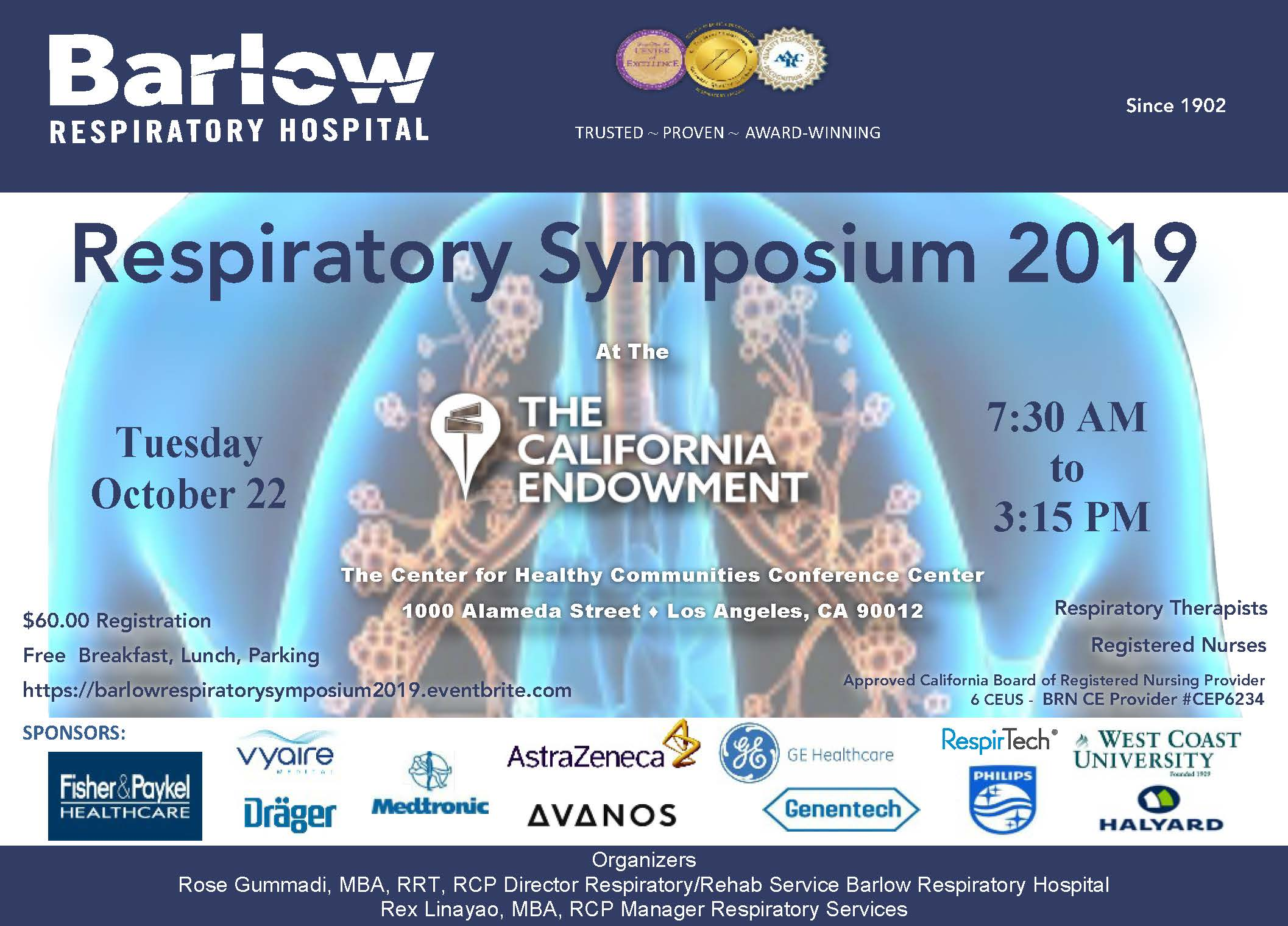 Barlow Respiratory Symposium 2019