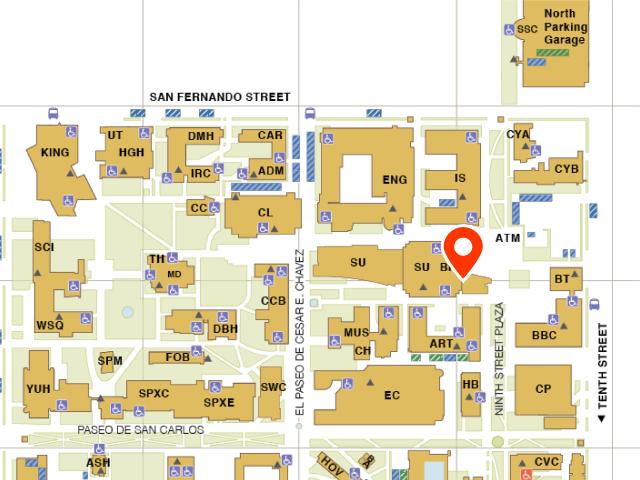 Map of SJSU