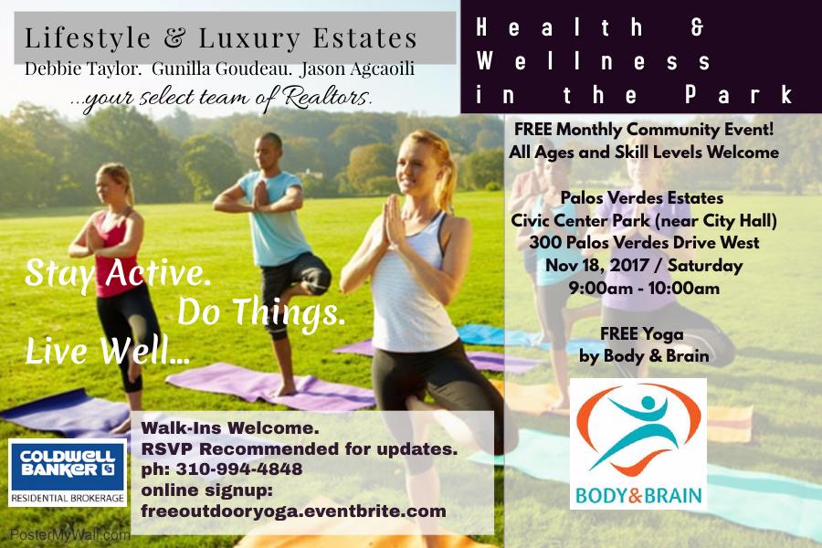 free outdoor yoga - palos verde estates