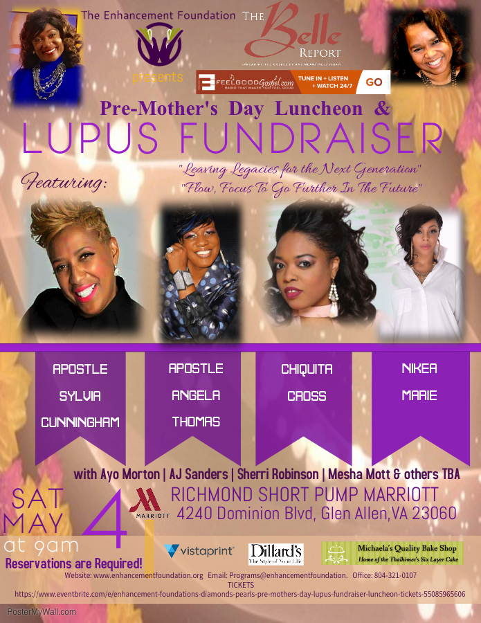 Pre-Mother's Day Luncheon Lupus Fundraiser Event