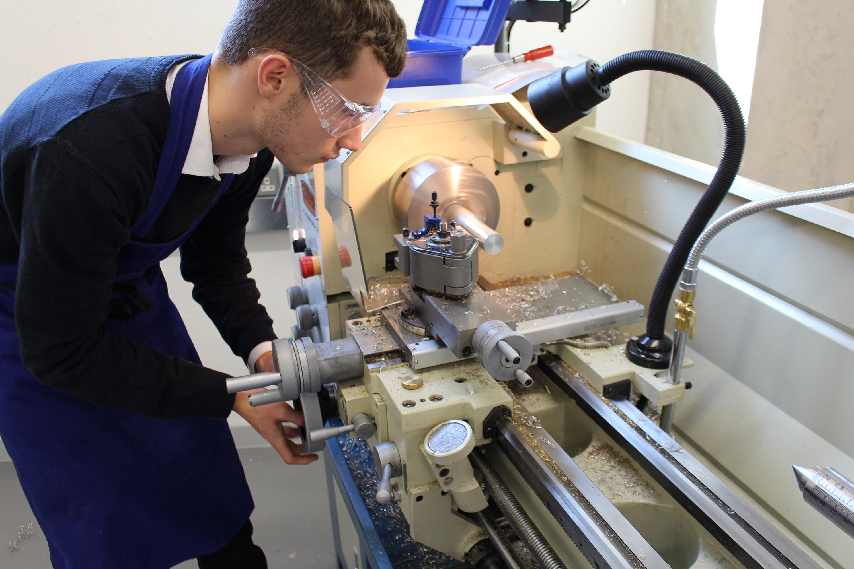 Student in workshop