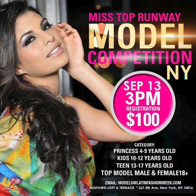 miss top runway model competition dc tx nyc