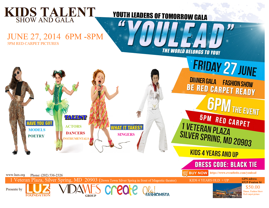Youlead kids talent  event and gala