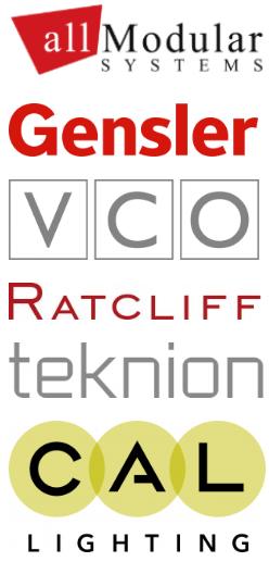 All Modular, Gensler, Ratcliff, Teknion, VCO, CAL