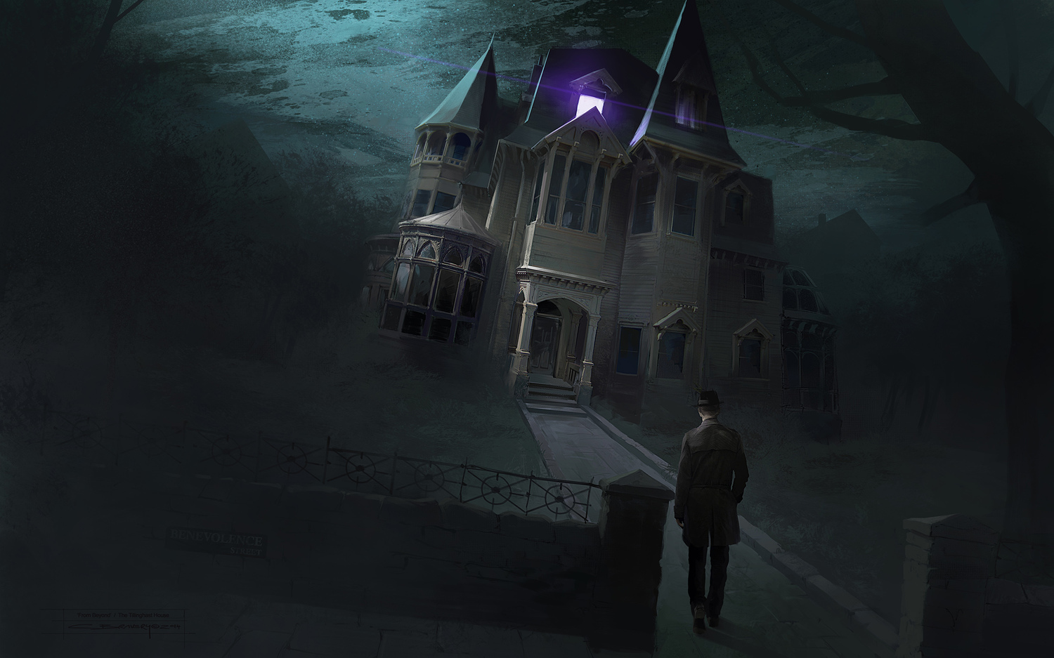 From Beyond concept art of the mansion