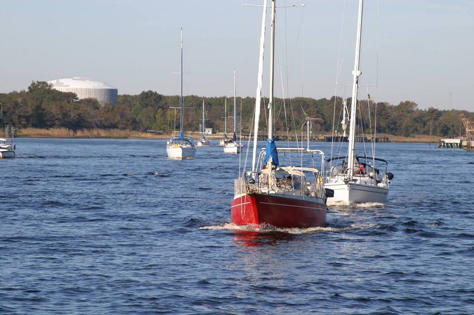 Rallying south on the ICW