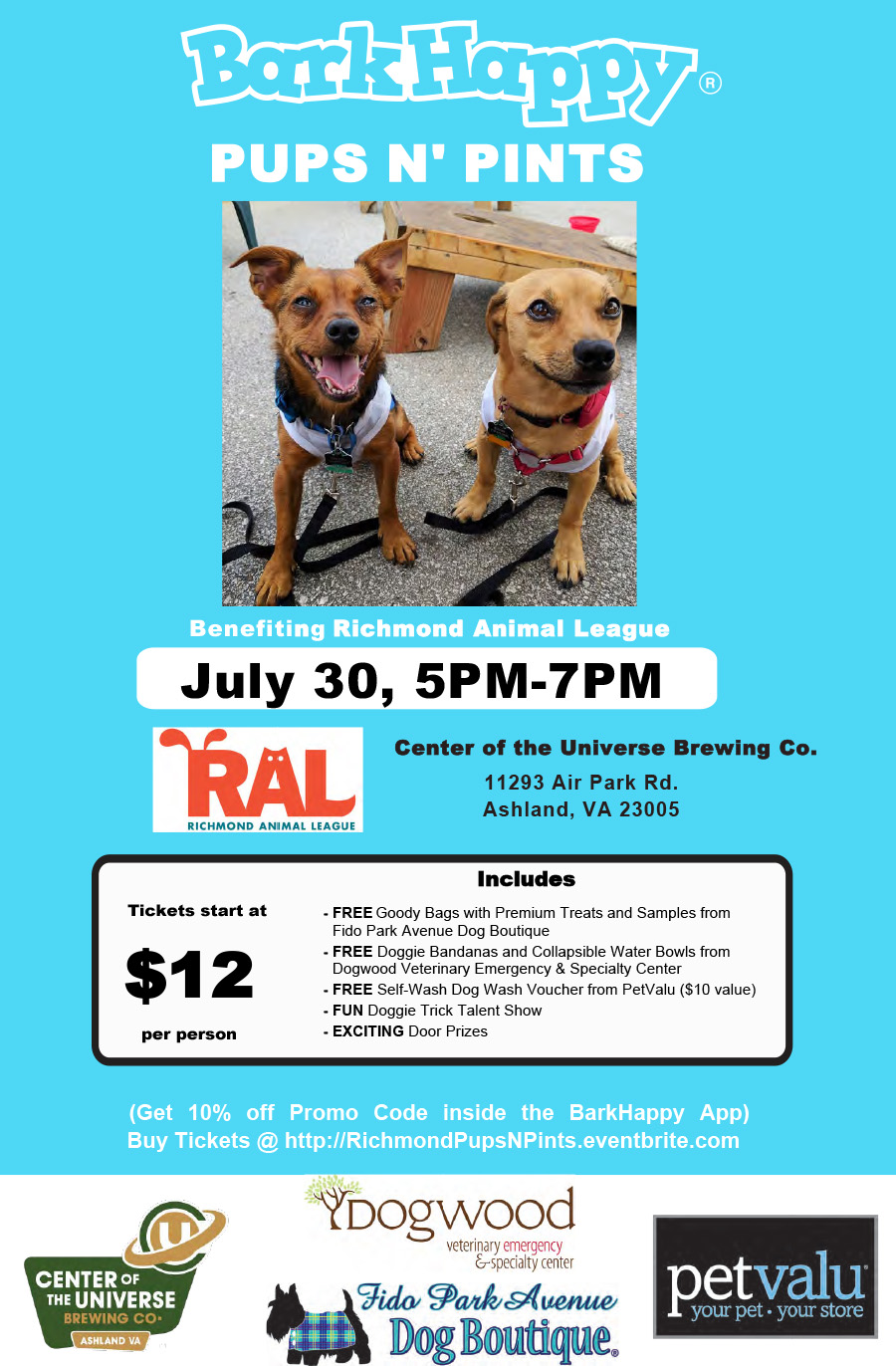 Barkhappy richmond pups n pints to benefit richmond animal tags solutioingenieria Choice Image