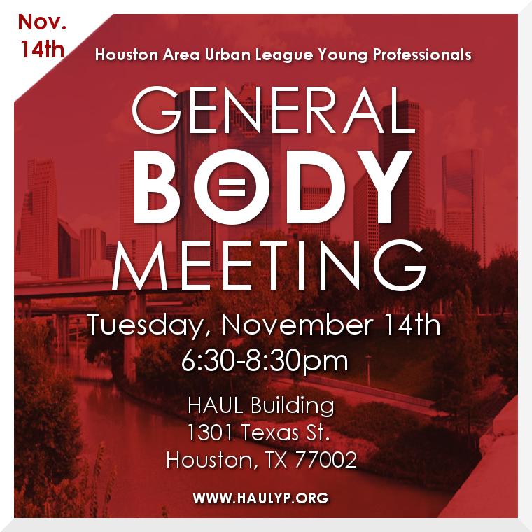 November GBM Flyer