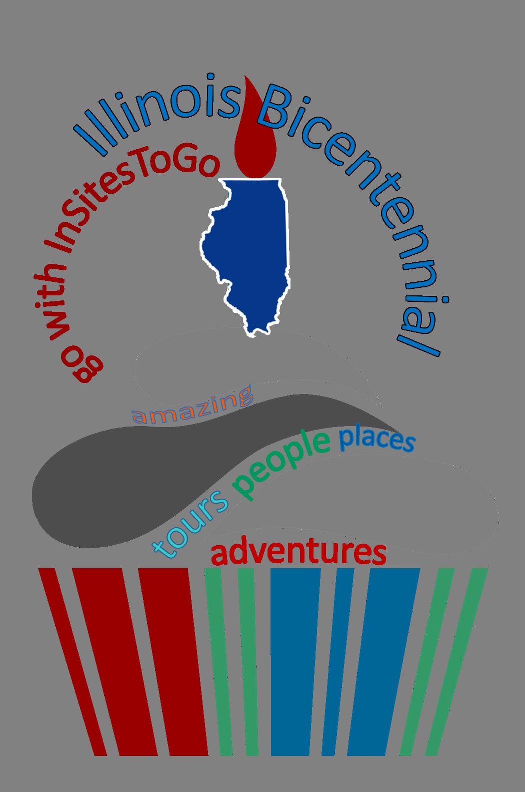 InSites Illinois 200 Road Trip Series logo (incorps birthday cupcake)