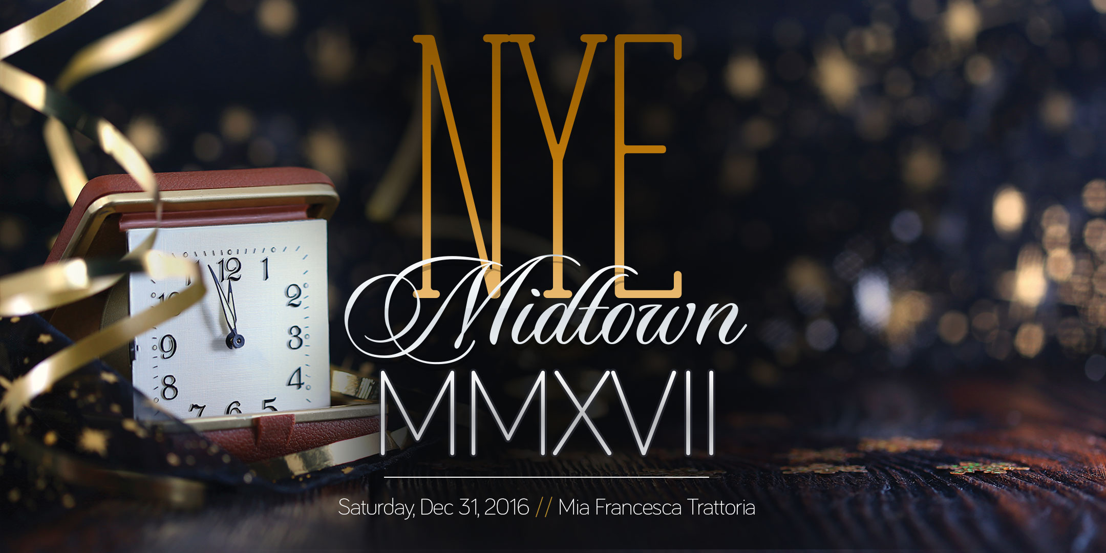 Spend New Year's Eve at Mia Francesca