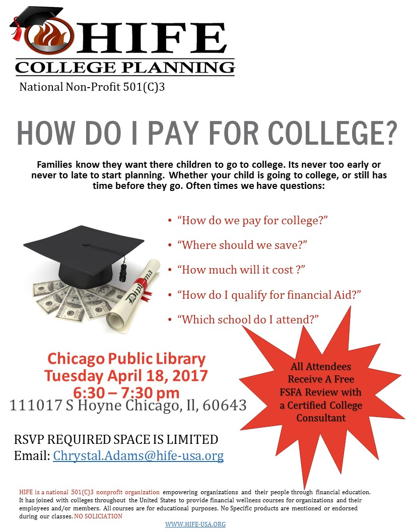 how do i pay for college tickets tue apr 18 2017 at 6 30 pm college planning