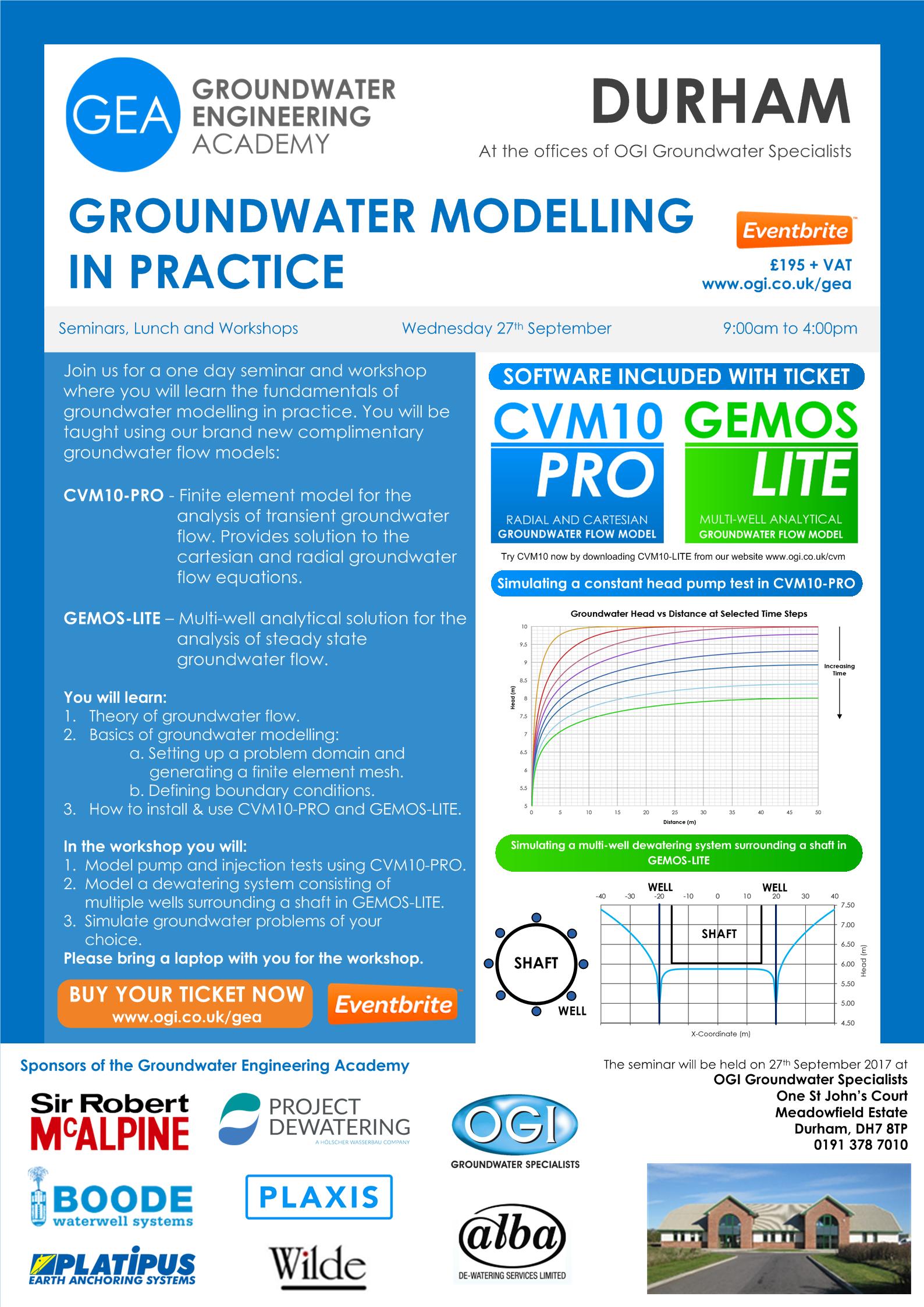 Groundwater Modelling Seminar Poster