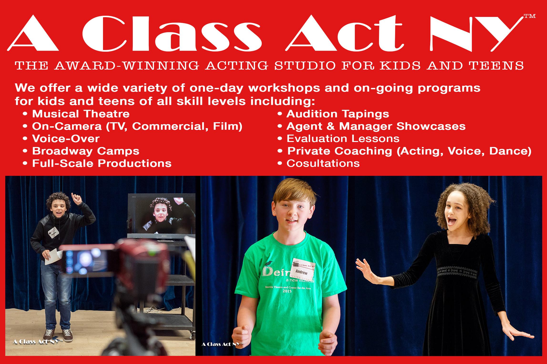A Class Act NY - The Award-Winning Acting Studio