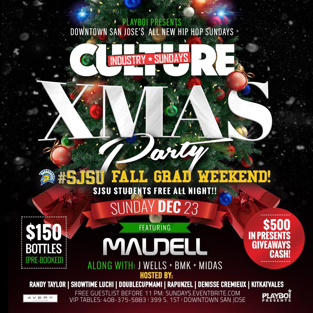 culture industry sundays xmas party sjsu grad weekend avery