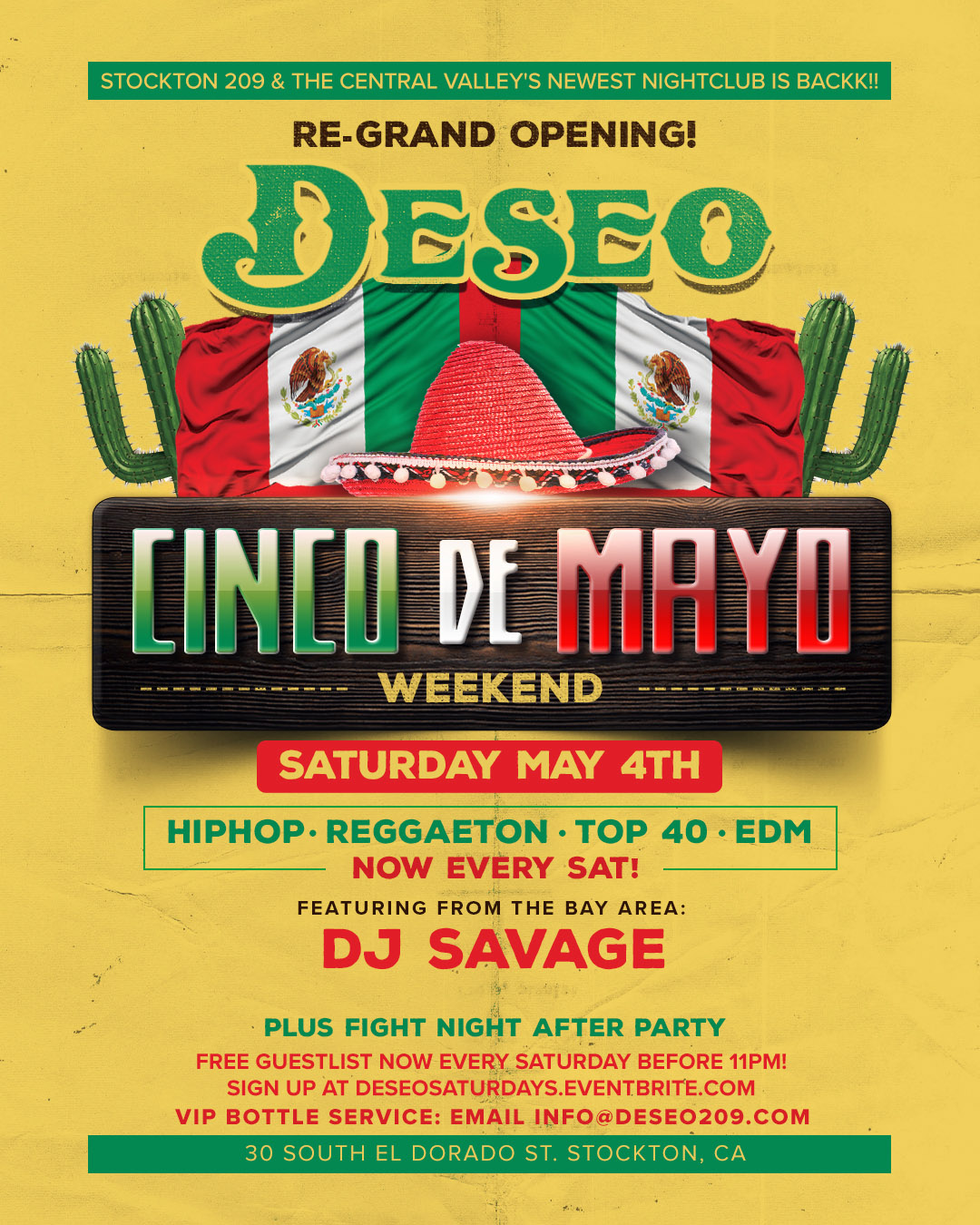 Deseo Re Grand Opening Sat May Hiphop Top Edm Reggaeton Jpg 1080x1350 Vip Bottle Server Job