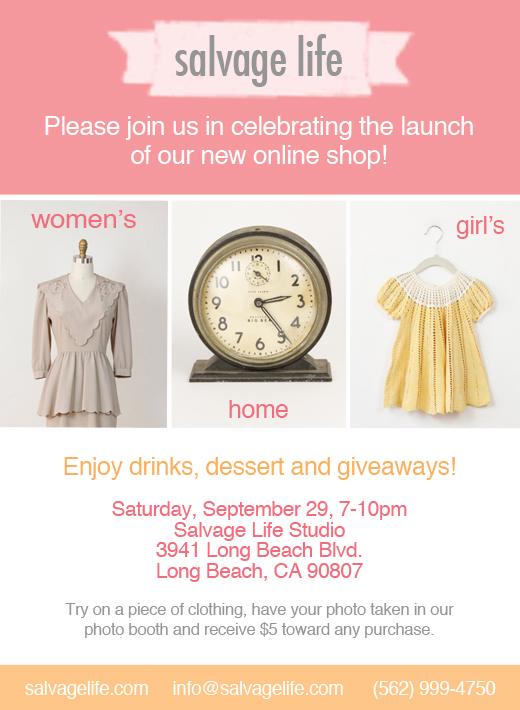 Online Shop Launch Party Invite
