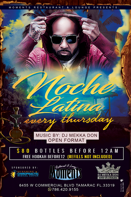 Noche Latina Every Thursday at moment lounge