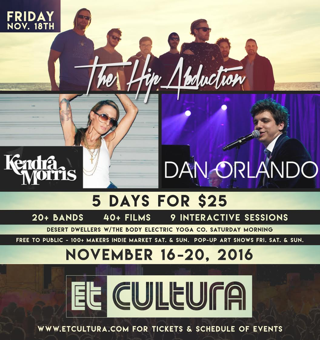 Friday Night Line Up, The Hip Abduction, Kendra Morris, Dan Orlando