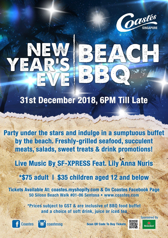 Coastes New Year's Eve Beach BBQ