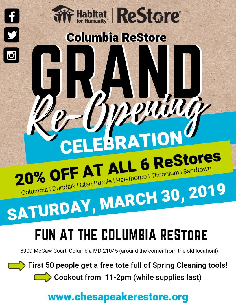 Columbia ReStore's Grand ReOpening