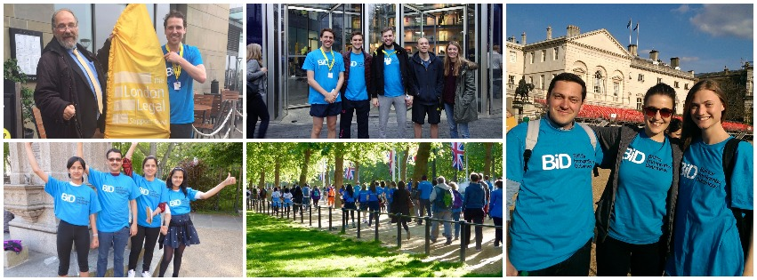 Collage of photos from last year's BID Team walkers