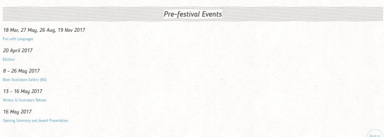 2017 Pre-Festival NBDCS