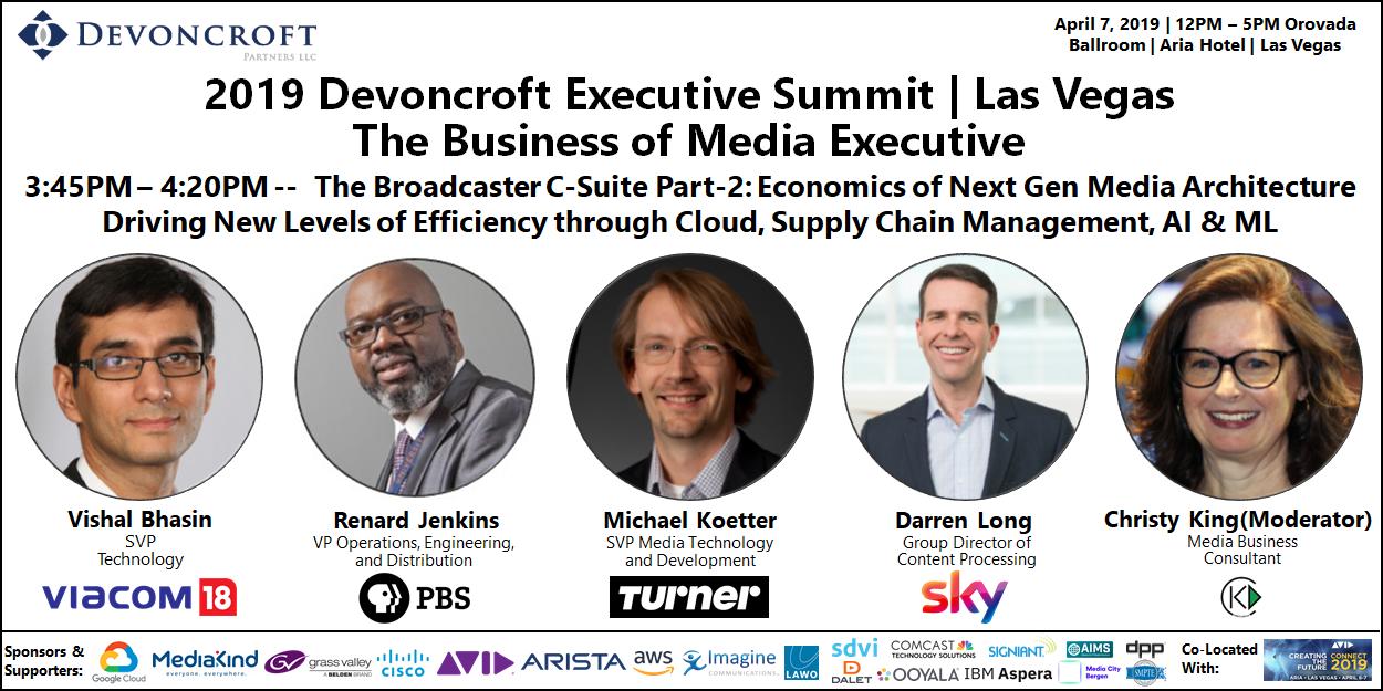 2019 Devoncroft Summit LV - Broadcaser C-Suite Part-2 - Cloud Supply Chain
