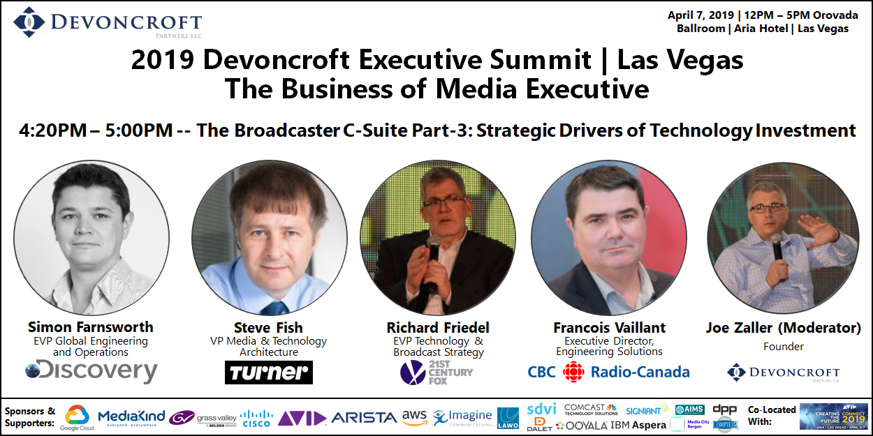 2019 Devoncroft Summit LV - Broadcaser C-Suite Part-3 - Strategic Drivers of Investment
