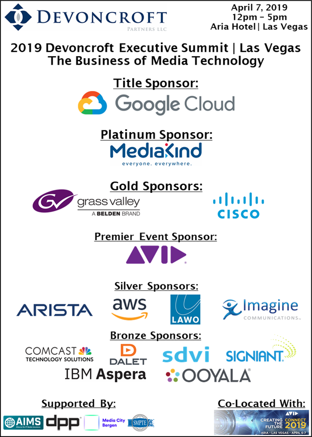 2019 Devoncroft Summit LV - Sponsors and Supporters