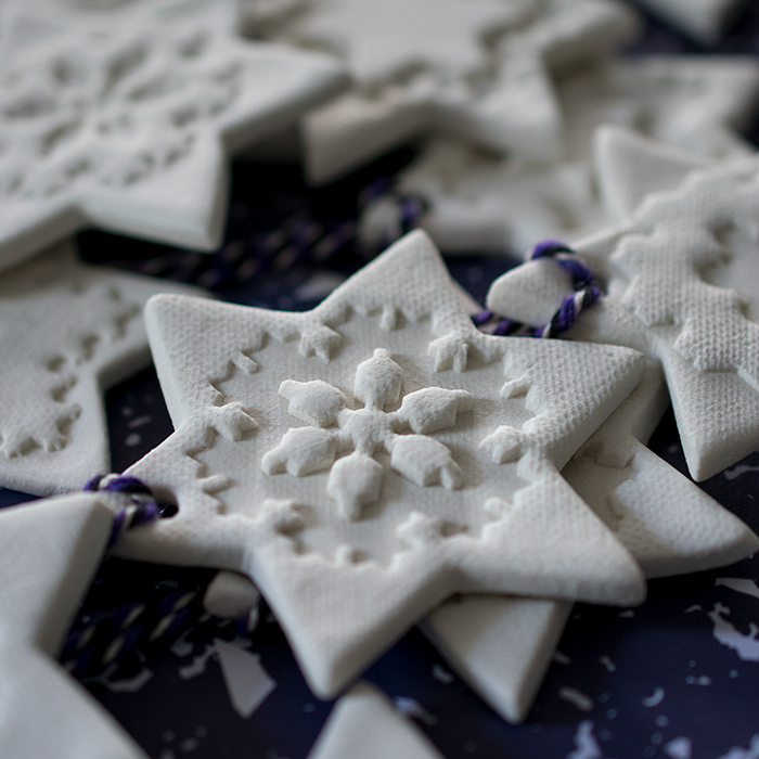 Handmade porcelain christmas decorations