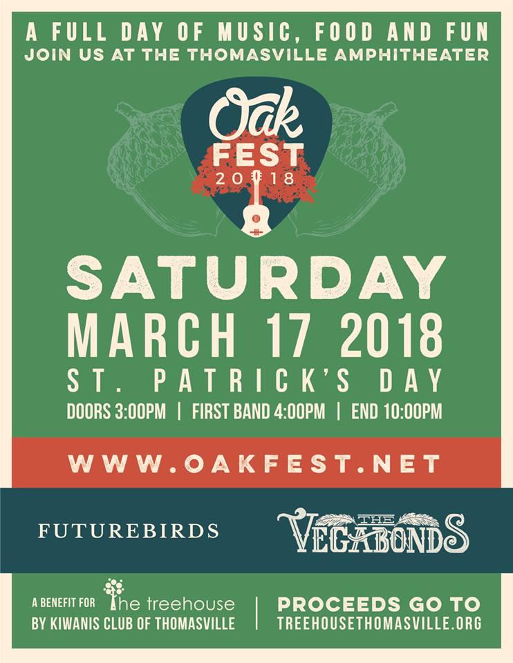 Oakfest 2018 Poster :: Futurebirds/Vegabonds