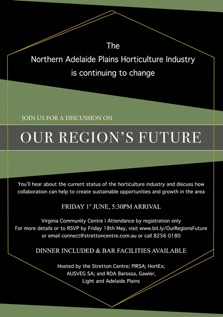 Northern Adelaide Plains Horticulture Event Invitation