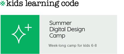 Summer Digital Design Camp for kids 6-8