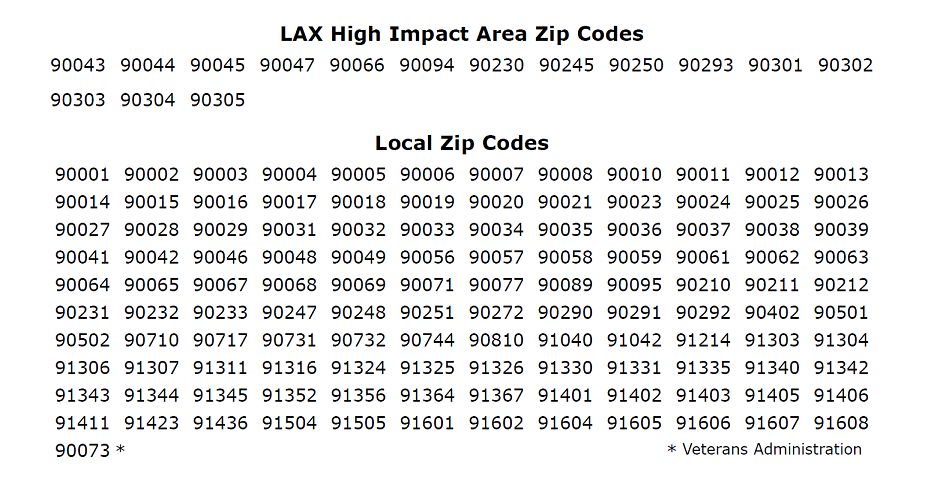 Eligible Zip Codes for the Construction Training Program