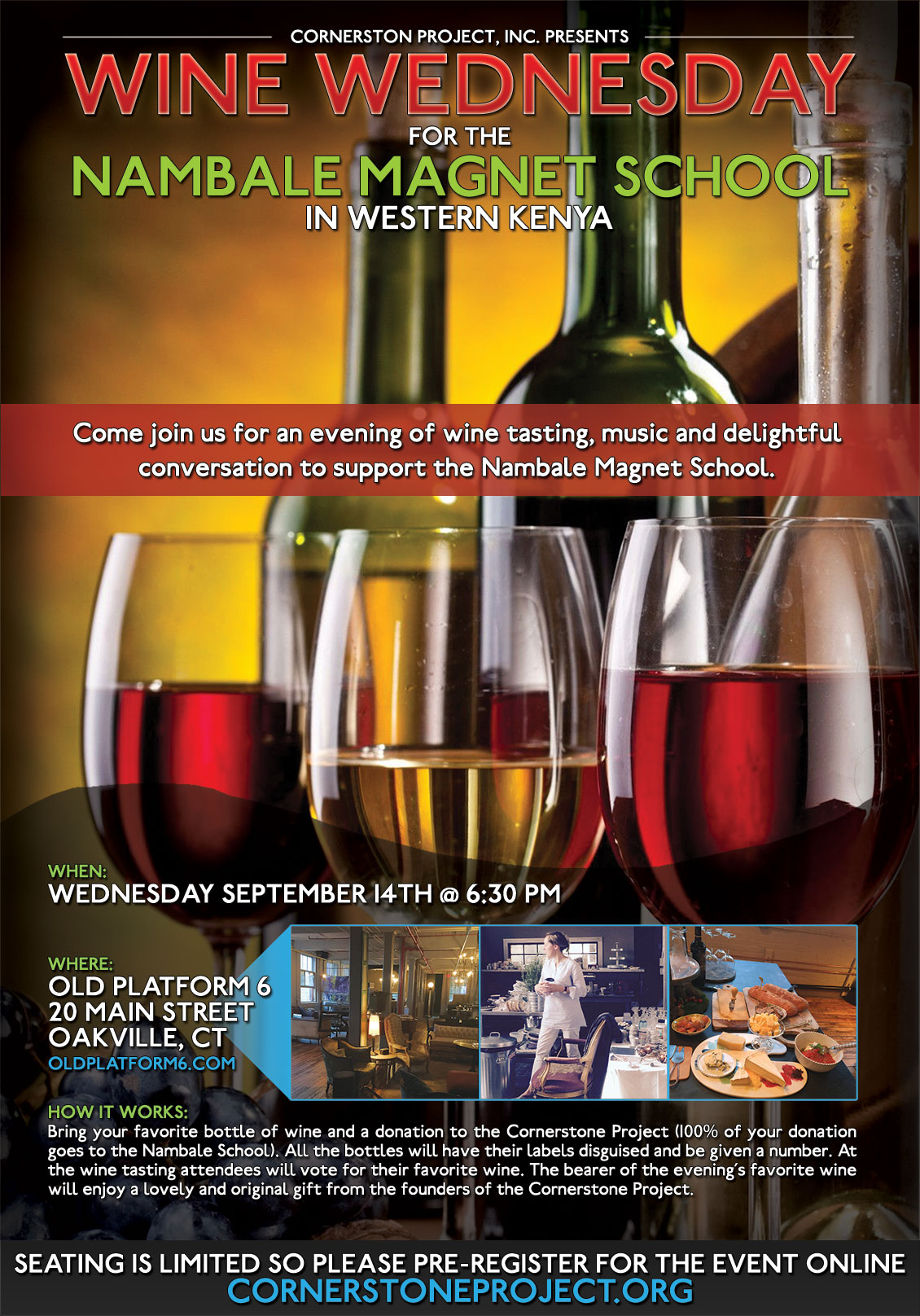 Wine Wednesday for the Nambale Magnet School - Event Flyer
