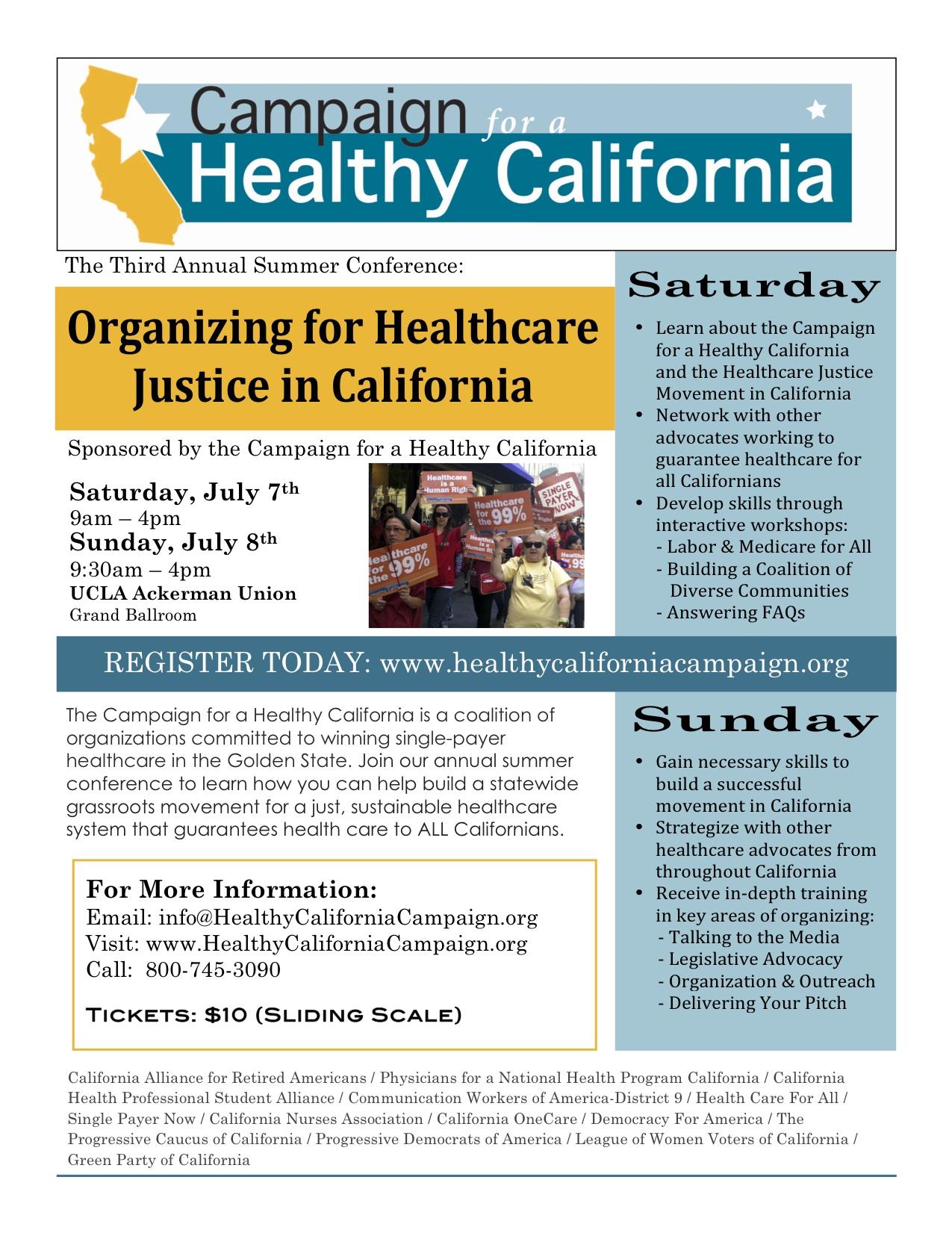 Summer Conference Flyer