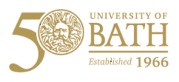 50th University of Bath logo