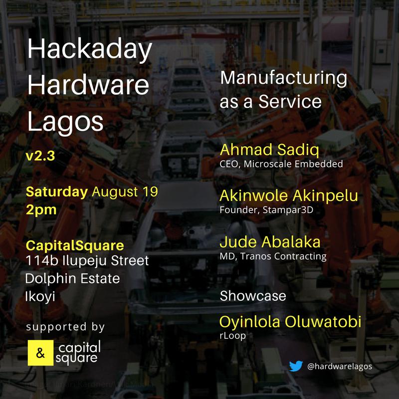 Event Flyer. Speakers include Ahmad Sani, Jude Abalaka and Akinwole Akinpelu.