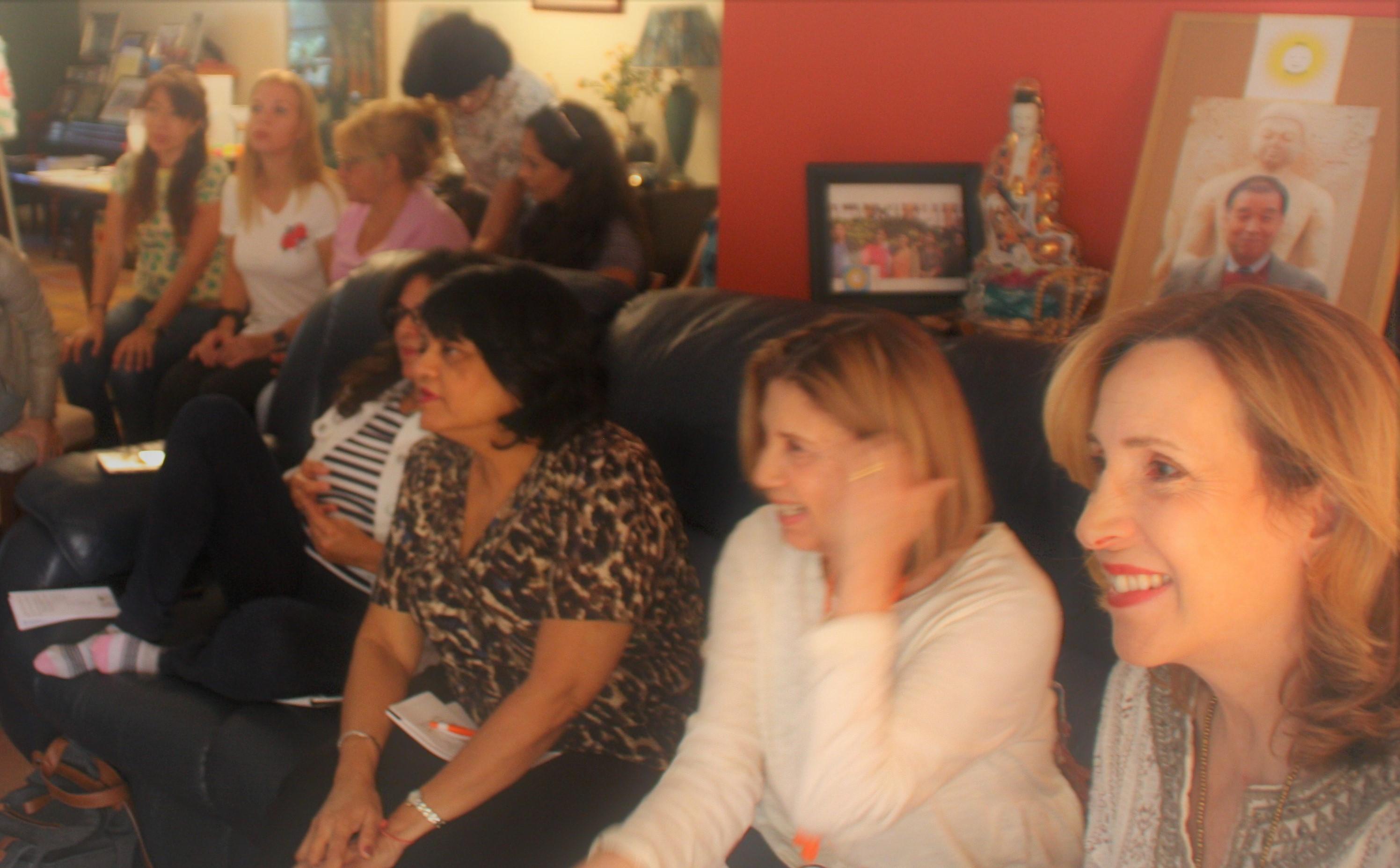 smiling participants