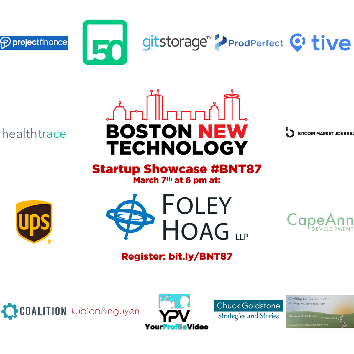 Boston New Technology #BNT87 Startup Showcase