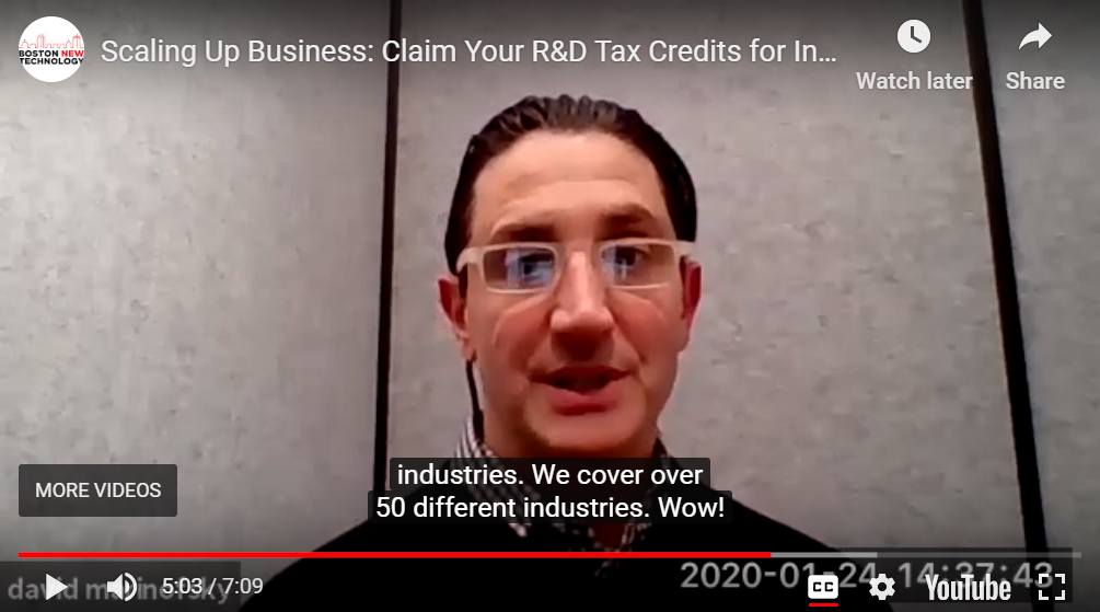 Video Preview for Scaling Up Business: Claim Your R&D Tax Credits for Innovation in Almost Any Industry