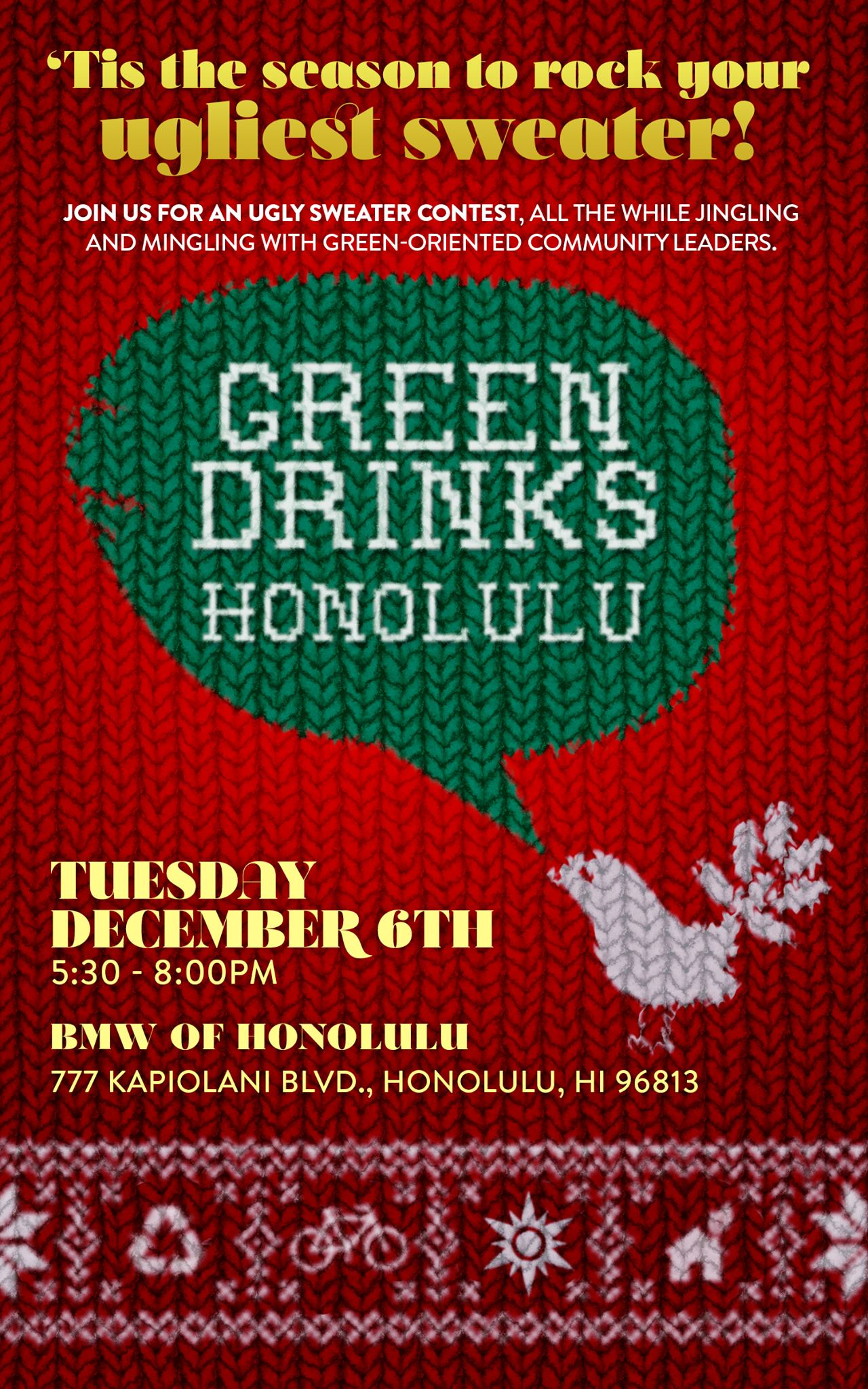 Green Drinks Honolulu BMW Dec. 6