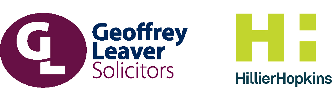 Geoffrey Leaver solicitors & Hillier Hopkins logos