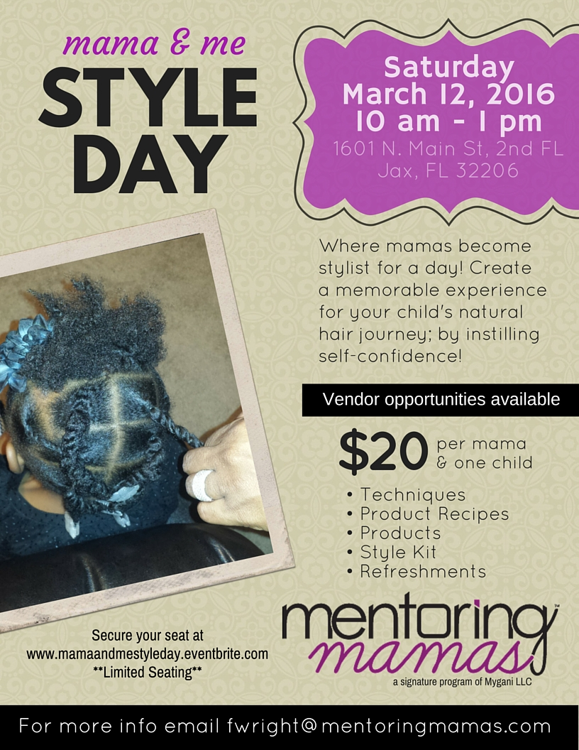 mama and me style day.mentoring mamas