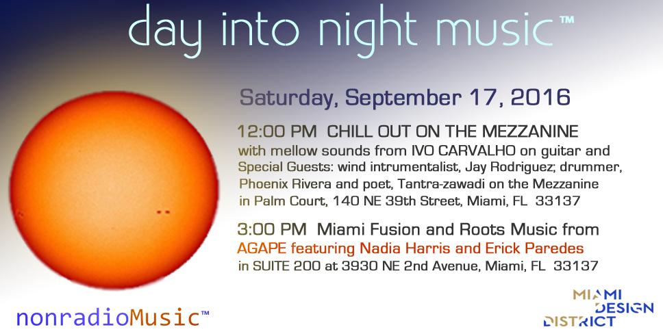 day into night music in miami design district, 09/17/16, 12 to 10 pm