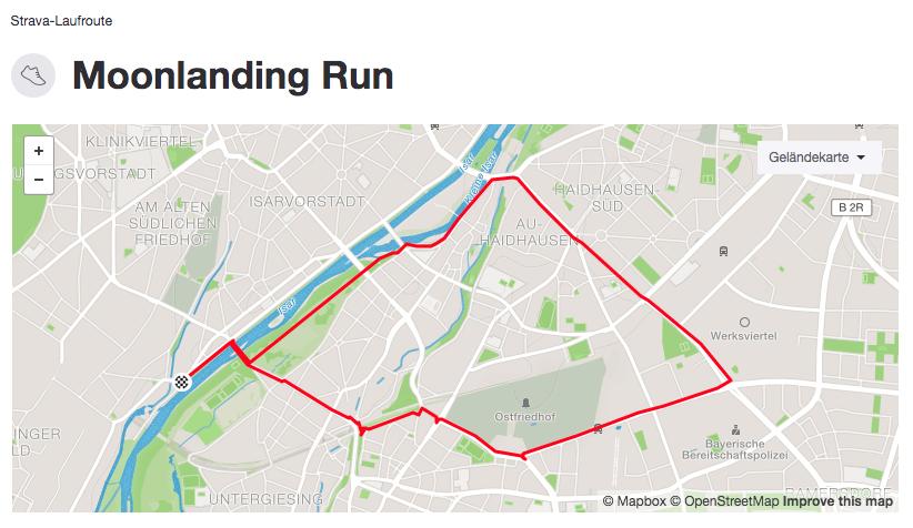 Strecke Moon Landing Run