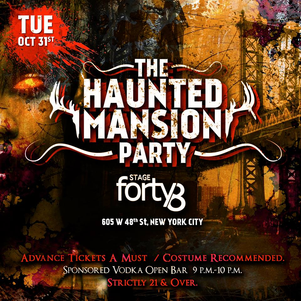 The Haunted Mansion - NYC's Official Halloween Night Party ...