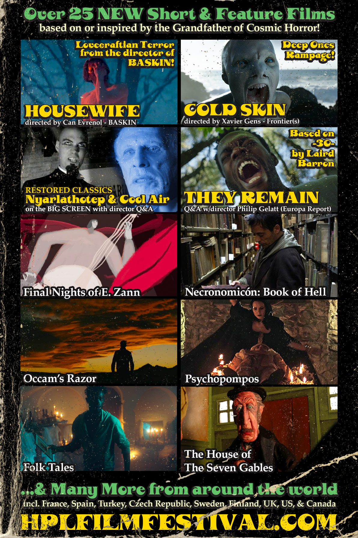 Just a few of the over 2 dozen Lovecraftian films we're showing!
