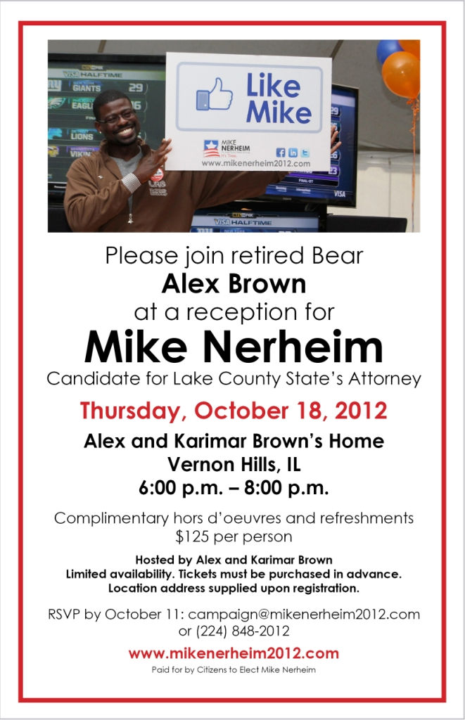 Alex Brown event for Mike Nerheim invitation