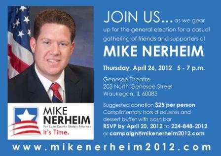April 26th Event for Mike Nerheim--click